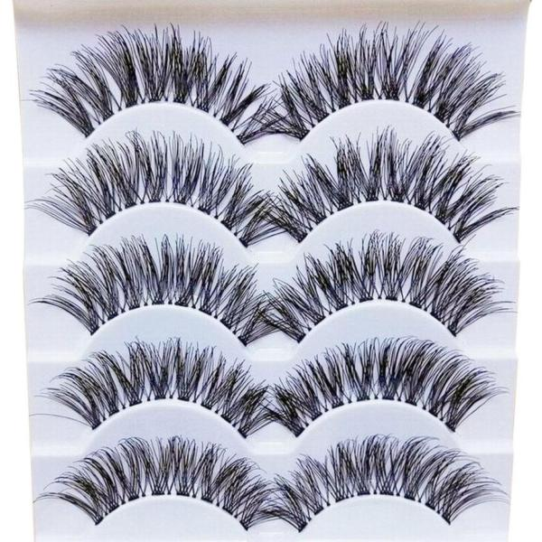 5 pairs 3D Natural Multi Layer Long Eye Lashes hand made fake eyelashes 3D Reusable lashes 3