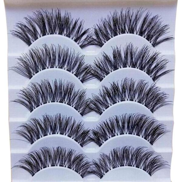 5 pairs 3D Natural Multi Layer Long Eye Lashes hand made fake eyelashes 3D Reusable lashes