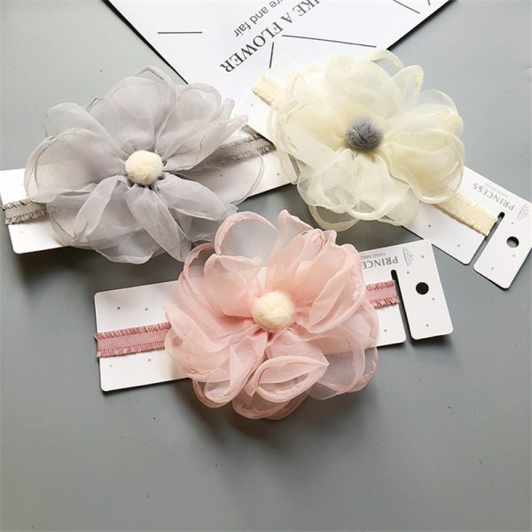 BalleenShiny Baby Girls Bowknot Crown Headband Lace Elastic Princess Hair Band Fashion New Style Children Kids 4
