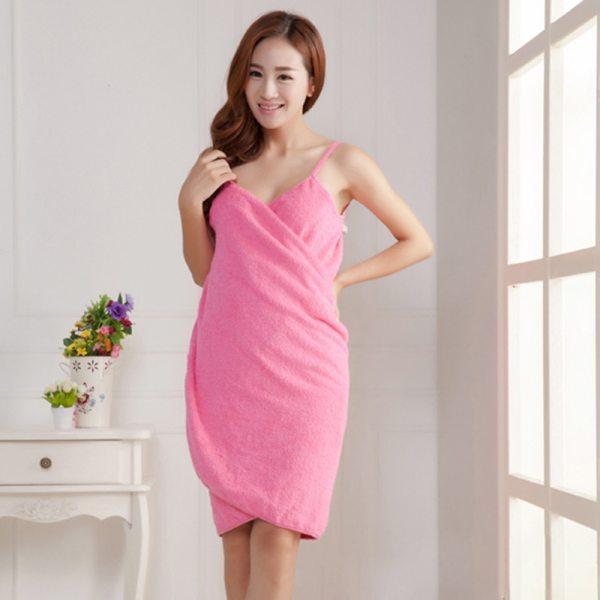 Bath Towels Lady Girls Wearable Fast Drying Magic Bath Towel Beach Bathrobe Sleepwear Spa Bathrobes robes