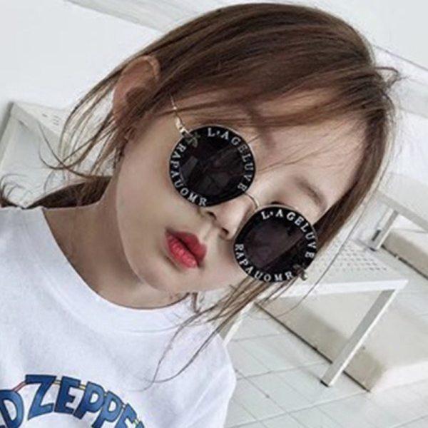Child 2019 NEW designer Round Frame Sunglasses Kids Gold bee Children Glasses UV400 Baby Summer Eyeglasses