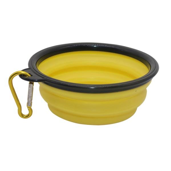 Pet Soft Dog Bowl 1PC Folding Silicone Travel Bowl For Dog Portable Collapsible Folding Dog Bowl 2
