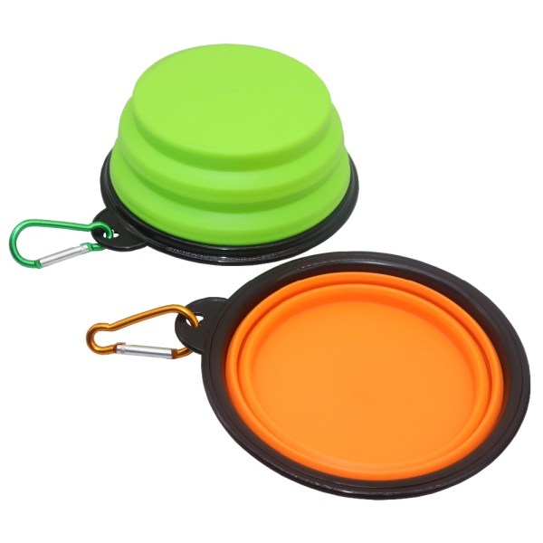 Pet Soft Dog Bowl 1PC Folding Silicone Travel Bowl For Dog Portable Collapsible Folding Dog Bowl 5