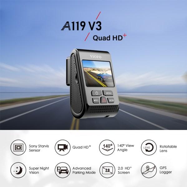 VIOFO A119 V3 Car Dash Cam Car DVR Upgrated 2019 Latest Version super night vision newest 1
