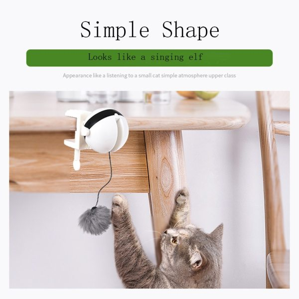 Electric Flutter Rotating Interactive Puzzle Smart Pet Cats Ball Toys Electronic Motion Cat Toy Teaser Toy