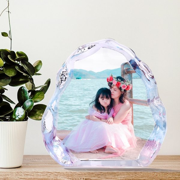 Personalized Crystal Photo Frame Glass Custom Picture Frame Present Wedding Photo Album Souvenir Gift Birthday Gift