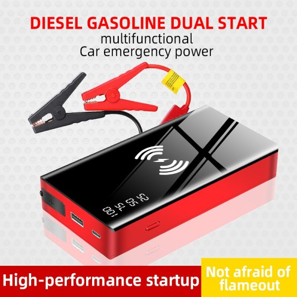Wireless Charger Jumpstarter 20000mAh 12V 600A car jump starter portable power bank boster for car