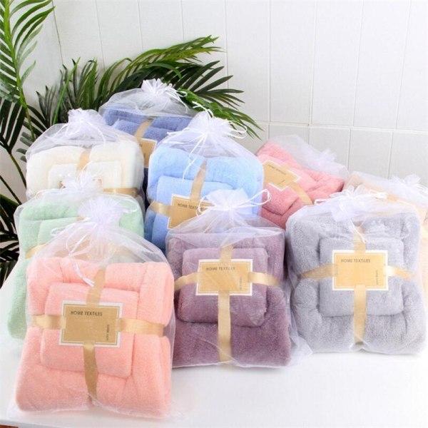 14 Colors Coral Fleece Absorbent Hair Swimming Face Hand Bath Towel Sets Microfibre Towels Bathroom Towels
