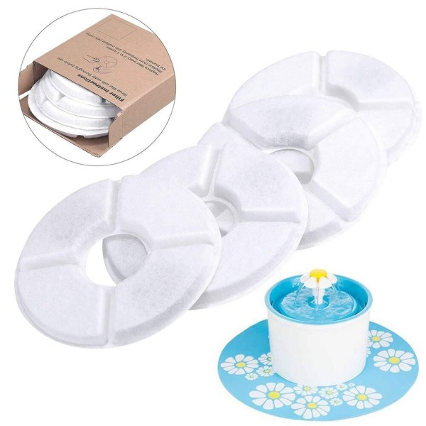 4pcs Charcoal Filter Activated Carbon Filters Replacement for Flower Waterfall for Pet Cat Dog Supplies