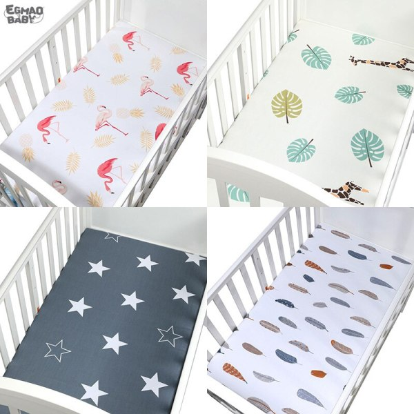 Baby Crib Fitted Sheet For Cot Size 120 65 cm 100 Cotton Soft Baby Bed Mattress