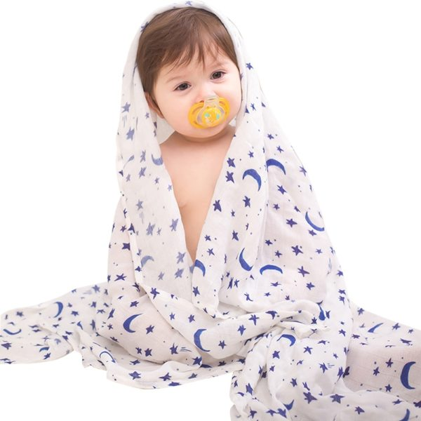 Bamboo Baby Blanket Cartoon Soft 70 Bamboo 30 Cotton Infant Printed Wrap Blankets Newborn Swaddle Rainbow
