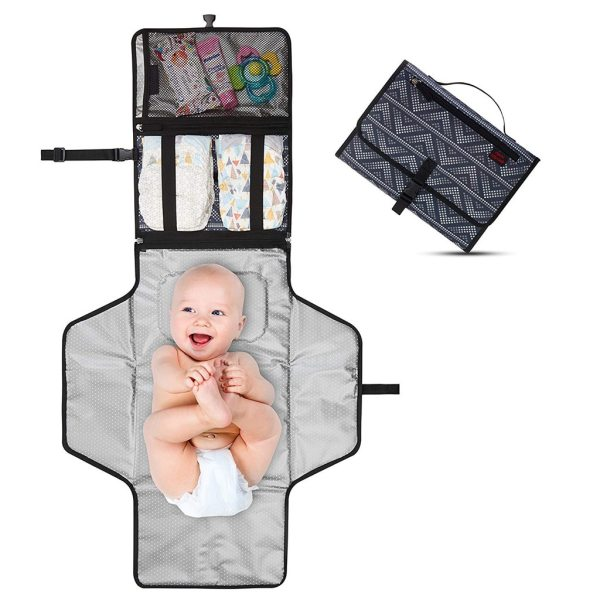New Portable Foldable Nappy Change Mat Waterproof TPE Diaper Baby Change Kit for Home Travel Outside