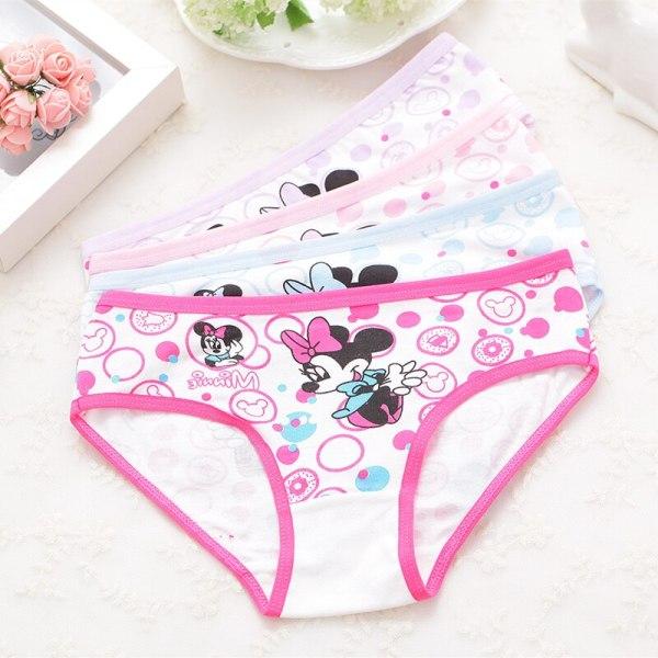 4Pcs pack girls briefs panties underwear Character Girls Underwear Cotton 4colors Panties