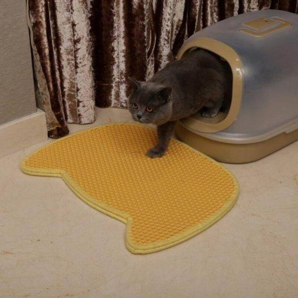 Panda Shape Eva Cat Litter Mat Green Pet Honeycomb Mat For Dog Cat New