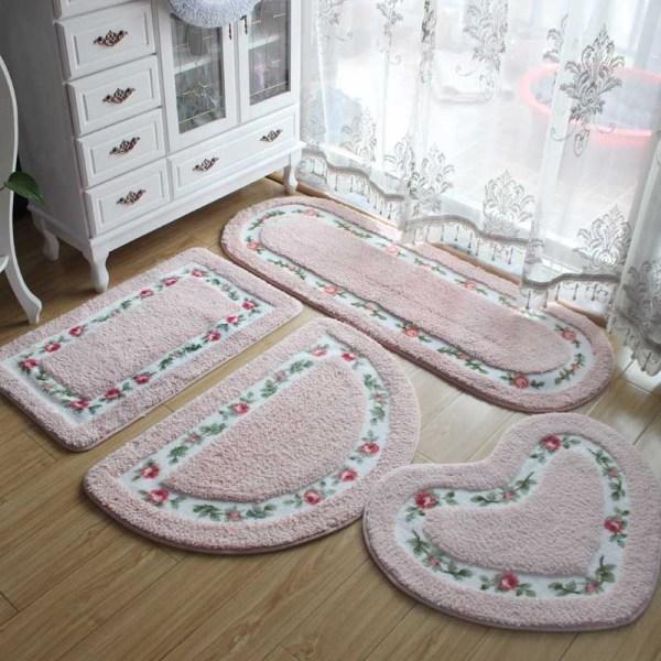40 60CM All Shapes 5 Colors Non slip Bath Mats Bathroom Mat Rug Carpets for Bathroom