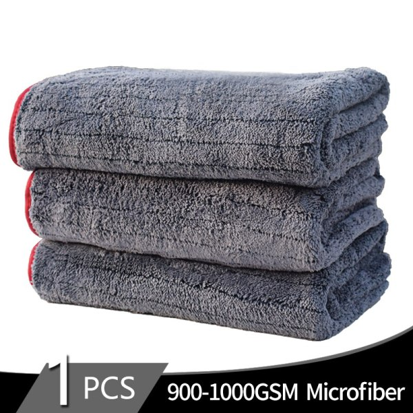 900gsm 90x60cm Microfiber Towel Car Wash Cloth Car Cleaning Tool Detailing Drying Towel Thick Polished Towel