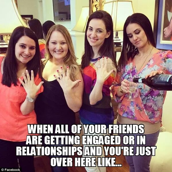 Image result for meme about friends getting married