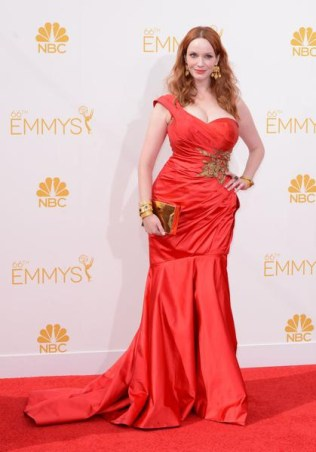 christina hendricks in Marchesa