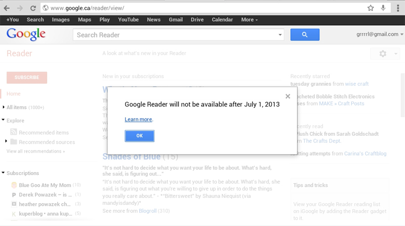 The Death of Google Reader