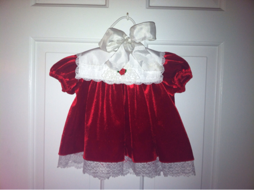 My daughter's first Christmas dress from her Great Grandmother