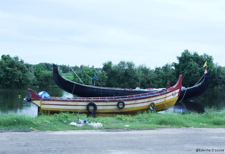 Boats outside Vallarpadam Church kochi