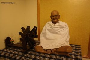 Mahatma Gandhi at Celebrity wax museum