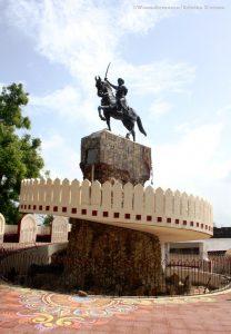 Chimaji Appa statue at vasai fort