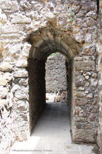 small tunnel inside vasai fort