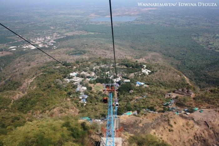 Ropeway to Kalika mata temple - champaner-pavagadh archaeological park