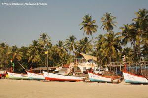 Colourful boats - Palolem beach