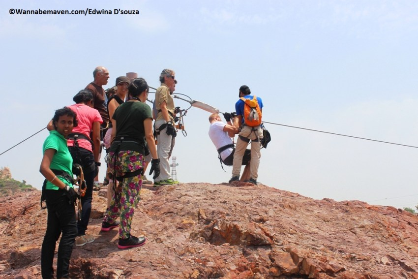Ziplining at Mehrangarh fort
