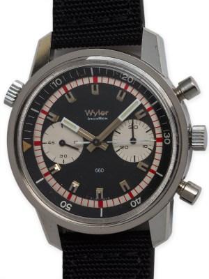 Wyler SS Incaflex Chronograph circa 1960's