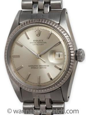 Rolex SS Datejust ref 1601 circa 1965