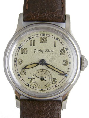 Matthey Tissot SS Miltary Style 1950's