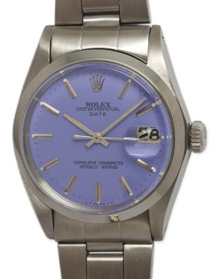 "Rolex SS Oyster Perpetual Date circa 1972 ""Lavender"""