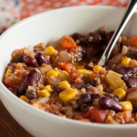 rainbow vegetarian chili