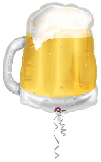 "Super Shape Beer Mug Balloons 34"" P35-0"