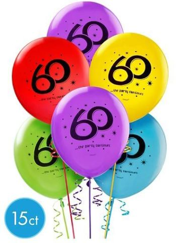 """60"" Printed Balloon Assortment 12in - 15CT-0"