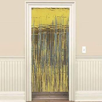 Foil Curtain Decoration Gold - 8ft x 3ft-0