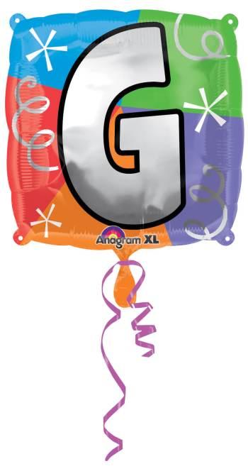 "18"" Square Letter G Balloons S30 -0"