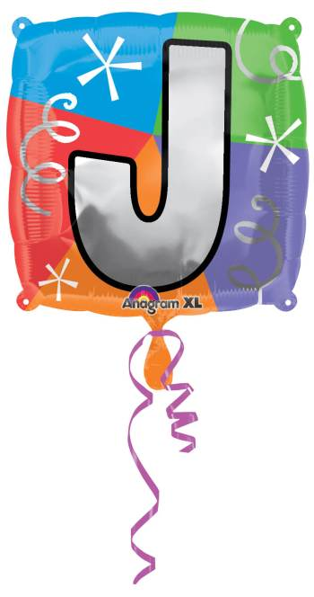"18"" Square Letter J Balloons S30 -0"
