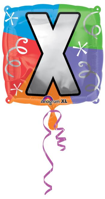 """18"""" Square Letter X Balloon S30 -0"""