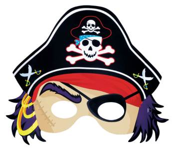 Pirate Mask Pirate Party-0