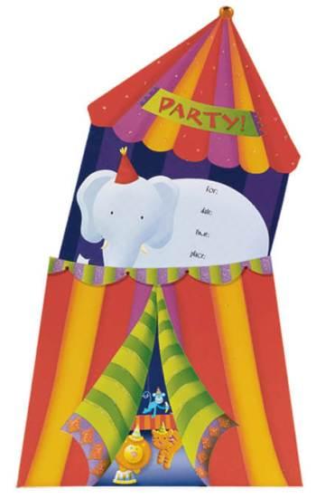 Circus Party Jumbo Invite-0