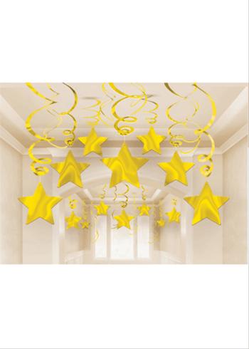 Golden Swirl Decoration - 15CT-0