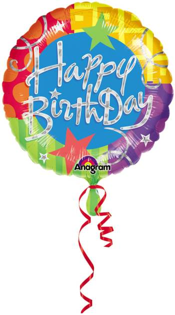 Prismatic Birthday Blitz Balloons 18in S60-0