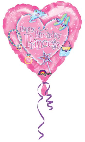 Princess Birthday Prismatic Balloon 18in S60-0