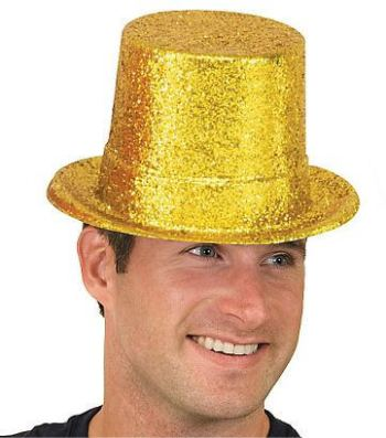 Glitter Top Hat Golden-0