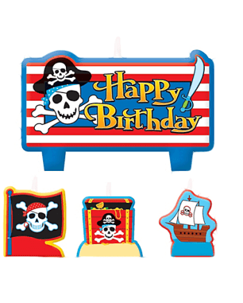 Pirate Treasure Birthday Candle Set -0
