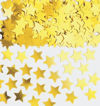Confetti Mini Star Gold 1oz-0